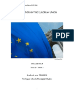Institutions of the European Union - Module Book 2015-2016
