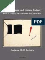 Benjamin HD Buchloh - Neo-Avantgarde & Culture Industry from 1955 to 1975 (October Books)