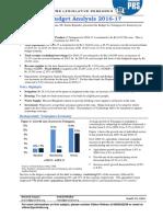 Telangana Budget Analysis 2016-17