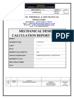 Mechanical Design Calculations of Pressure Vessel - Sample