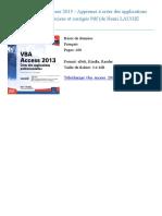 Vba Access 2013 Apprenez Henri Laugi Thierry Marian Id64364