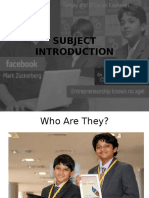 Module 1 - Entreprenuial Development
