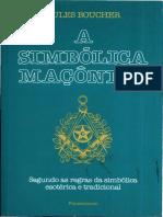 A Simbólica Maçónica - Jules Boucher