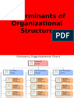 Determinants of Organizational Structure