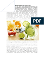 Perlukah Melakukan Diet Detoks Alami