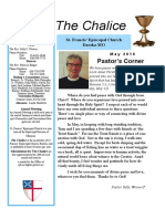 May 2016 Chalice newsletter of St. Francis' Episcopal Church - Eureka, MO