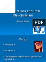 Structuralism and Post Structuralism