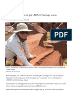 Push for Burrup Site to Get UNESCO
