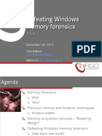 Defeating Windows Memory Forensics