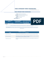 Perfil Competencia Operador Torno Convencional