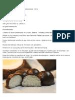 Bombones de Chocolate Rellenos Con Coco