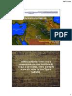 As Civilizações Mesopotâmicas