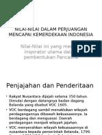 Nilai-nilai Dalam Perjuangan Kemerdekaan Indonesia(1)