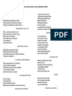 Analiza La Métrica de Las Siguientes Letras de Canciones y Busca Recursos Literarios en Ellas