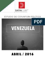 INFORME DATINCORP VENEZUELA ABRIL 2016