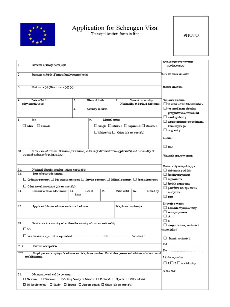 Poland visa application form travel visa passport thecheapjerseys Gallery