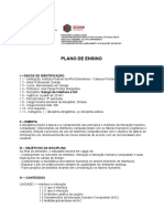 Plano de Ensino Design de Interface e IHC
