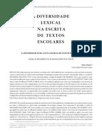 A diversidade lexical na escrita de textos escolares - Mário Martins