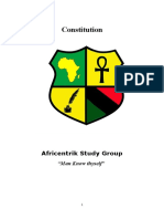 Africentrik Study Group Constitution
