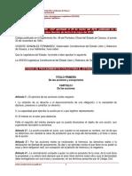 Código de procedimientos civiles para el estado de Oaxaca