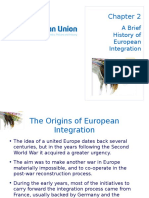 Chapter 2 a Brief History of European Integration