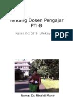 Tentang Dosen Pengajar PTI-B.pptx
