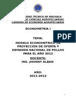 Proyecto de Econometria Final Pollos
