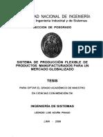 Tesis de manufactura flexible en el Perú