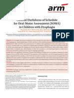 Evaluación Habilidades Motoras Orales en niños