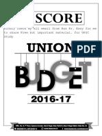 Gs Score _budget 2016