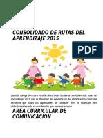 Consolidado de Rutas Del Aprendizaje 2015