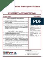 ITUPEVA - Assistente Administrativo - Prova.pdf