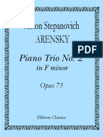 Arensky - Op 73 - Piano Trio No. 2 in F Minor (1905)
