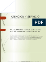 Atencion y Servicio
