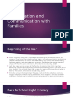 collaboration and communication with families