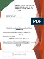 Solución de Parametros Cinéticos