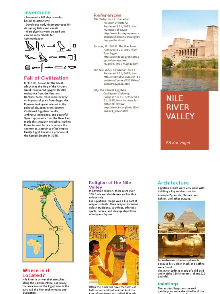 Nile River Valley Brochure | Ancient Egypt | Religion And Belief