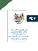 Extraccion de Aceite de Las Semillas de Zapallo