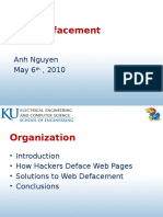 Web Defacement Attack Case