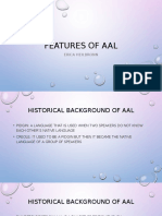 features of aal