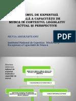 Sistemul de Expertiză Medicală a Capacității de Muncă În România. Context Legislativ Actual. Perspective.