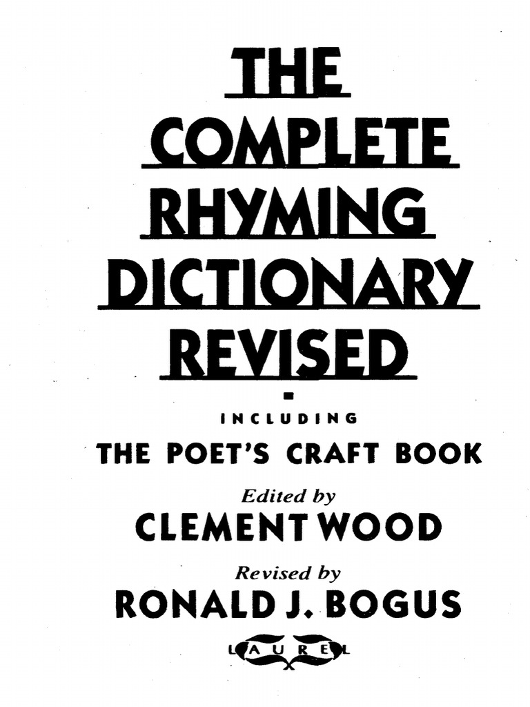 18b5c877d75 The Complete Rhyming Dictionary Revised