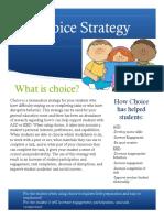choice strategy