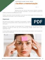 Técnicas Para Facilitar a Memorização - Curiosidades - Colégio Web