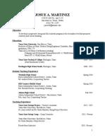 josue martinez teaching resume 4-16
