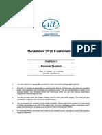 November 2015 ATT Paper 1 Ptax