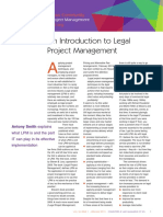 An Introduction to Legal Project Management - Society for Computers and Law