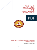 Ordinances Regulatios of Ph.d. Ms Programme