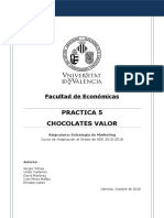 Práctica 5 - Chocolates Valor V3