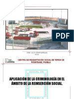 Aplicación de La Criminología en El Ámbito de La Reinserción Social.